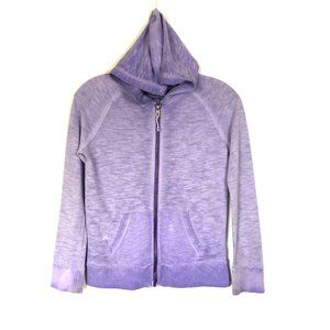 Cherokee Sweater Zip-Up Hoodie Purple Mineral Wash